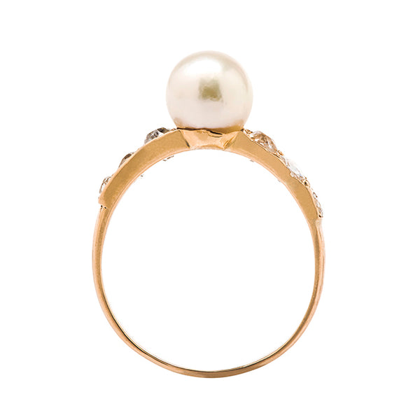 Naples | antique victorian pearl cocktail ring from Trumpet & Horn