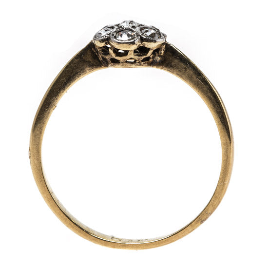 Floral Victorian Diamond Cluster Ring | Nashville from Trumpet & Horn