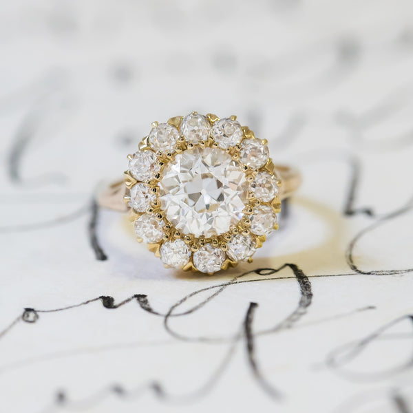 Exquisite Victorian Diamond Cluster Ring | New Bond Street from Trumpet & Horn