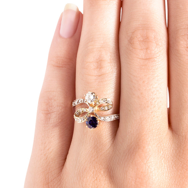 Victorian Inspired Sapphire Engagement Ring | New Castle from Trumpet & Horn