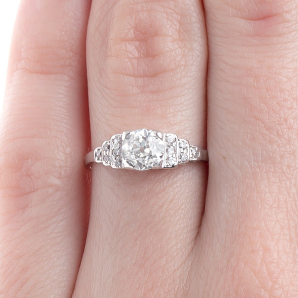 Symmetrical Art Deco Engagement Ring Embodying Geometric Principles | Newport from Trumpet & Horn