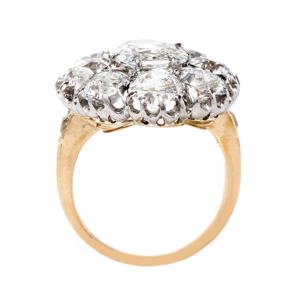 Glittering and Show-stopping Edwardian Engagement Cluster Ring | Nova Scotia from Trumpet & Horn