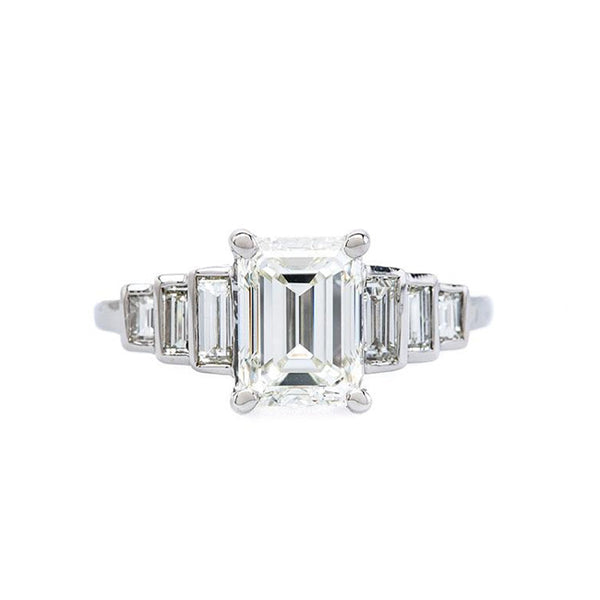 Art Deco Engagement Ring Vintage Inspired Engagement Ring | Novato Art Deco Engagement Ring