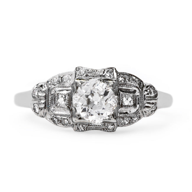 Late Art Deco Bombe Style Engagement Ring | Oceanview from Trumpet & Horn