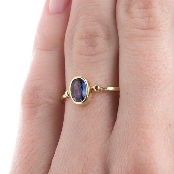Modern Era Solitaire Sapphire Ring | Olympia from Trumpet & Horn