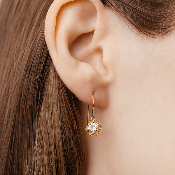 Gold Buttercup Earrings