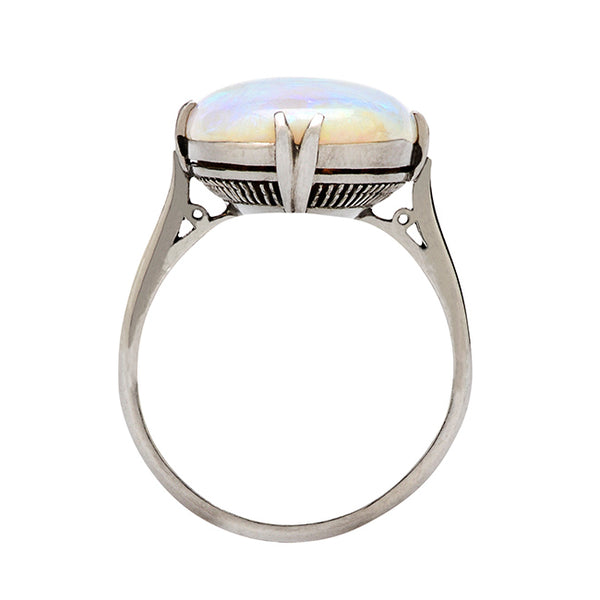 Edwardian Oval Opal Ring