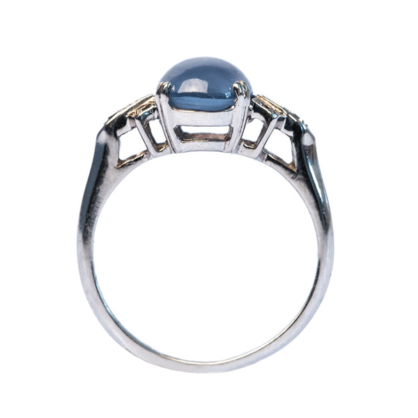 Orchard Hill vintage Art Deco sapphire ring from Trumpet & Horn