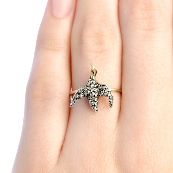 Oriole Lane vintage bird ring from Trumpet & Horn