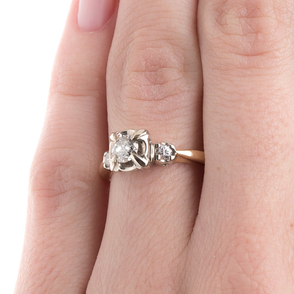 Three Stone Vintage Engagement Ring | Use Oxford from Trumpet & Horn