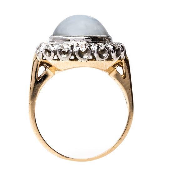 Show-stopping Moonstone and Diamond Cocktail Ring | Padaro Lane from Trumpet & Horn