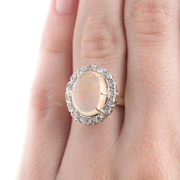 Fabulous Opal and Diamond Cocktail Ring | Palo Alto from Trumpet & Horn