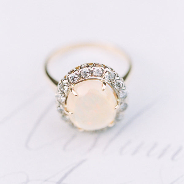 Fabulous Opal and Diamond Cocktail Ring | Photo by Sweetlife Photography
