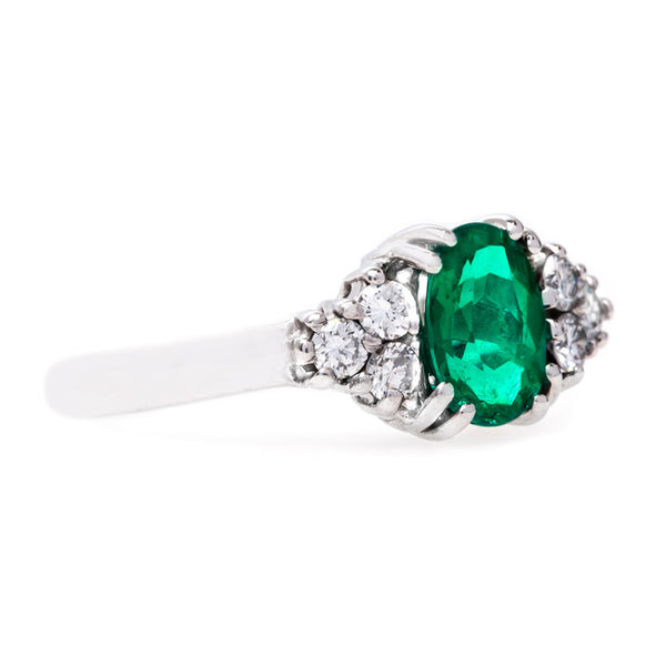 Glittering Modern Era Emerald Ring | Partridge from Trumpet & Horn