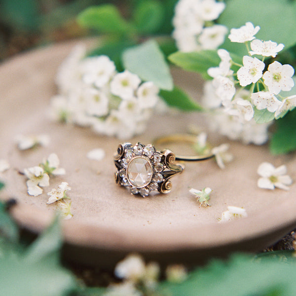 Vintage Victorian Era Rose Cut Engagement Ring | Pebble Beach from Trumpet & Horn