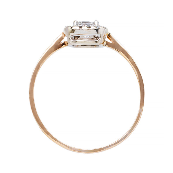 Delicate Asscher Cut Diamond Halo Ring | Pershing Court from Trumpet & Horn