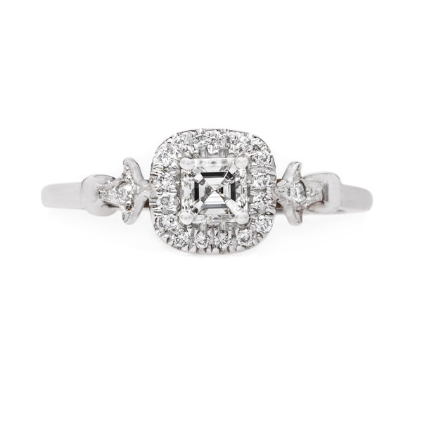 Sparkling Asscher Cut Diamond Halo Engagement Ring | Pershing Square from Trumpet & Horn