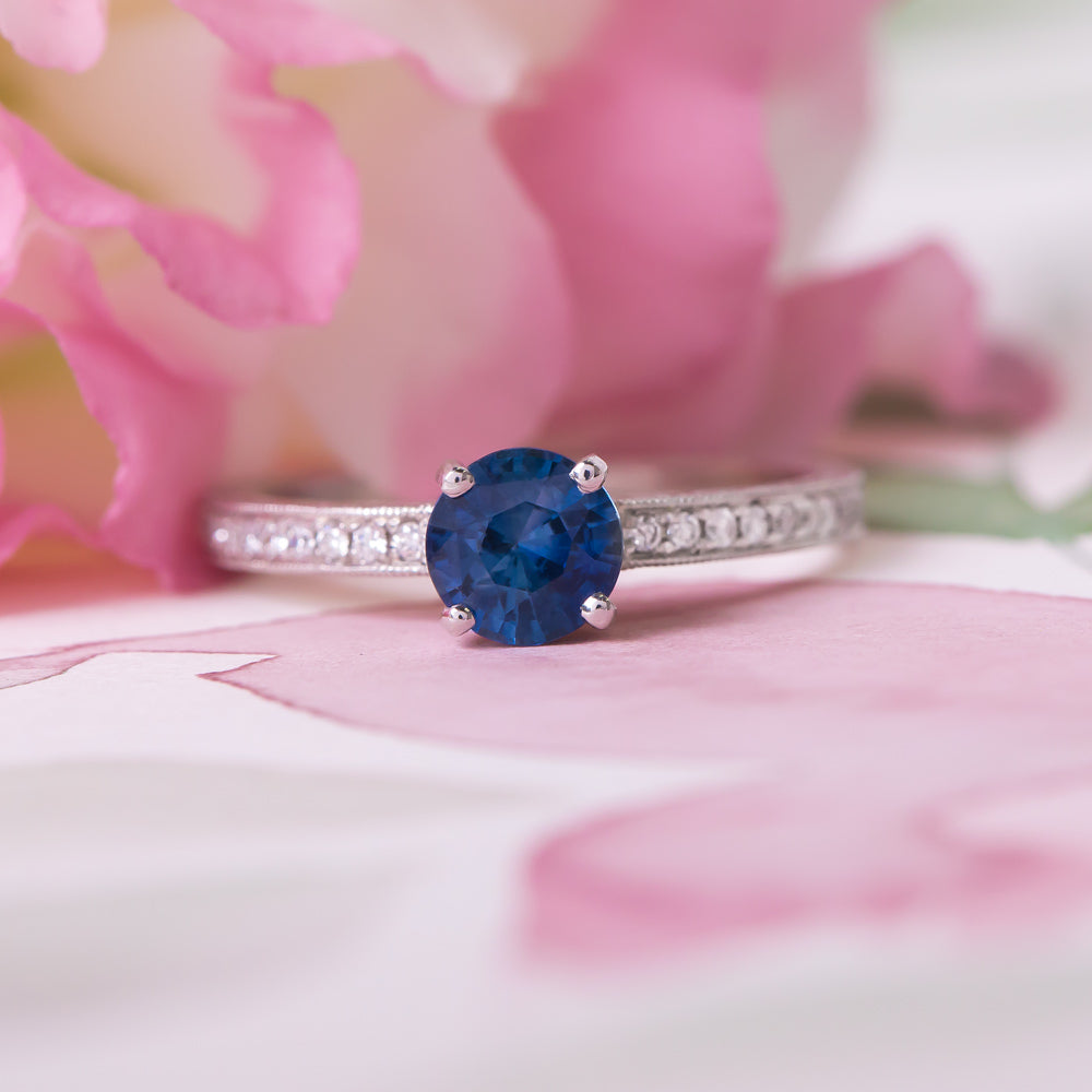 Sweet and Simple Sapphire Solitaire   Petunia – Trumpet & Horn