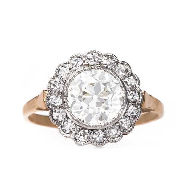 Charming Edwardian Cluster Ring | Phinney Ridge from Trumpet & Horn