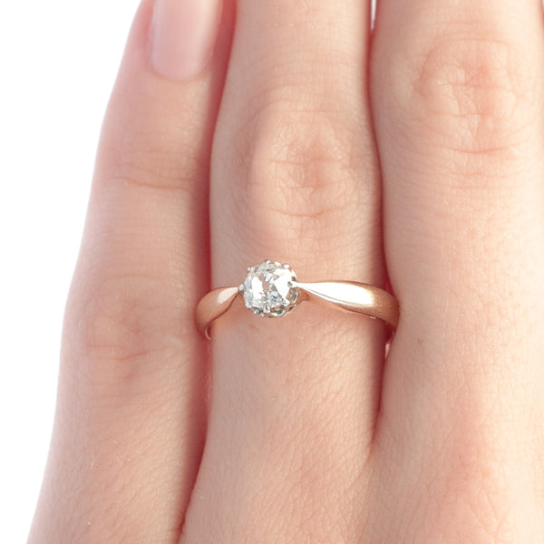 Pine Knot vintage solitaire engagement ring from Trumpet & Horn