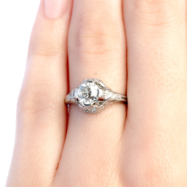 Pomona vintage Edwardian engagement ring from Trumpet & Horn