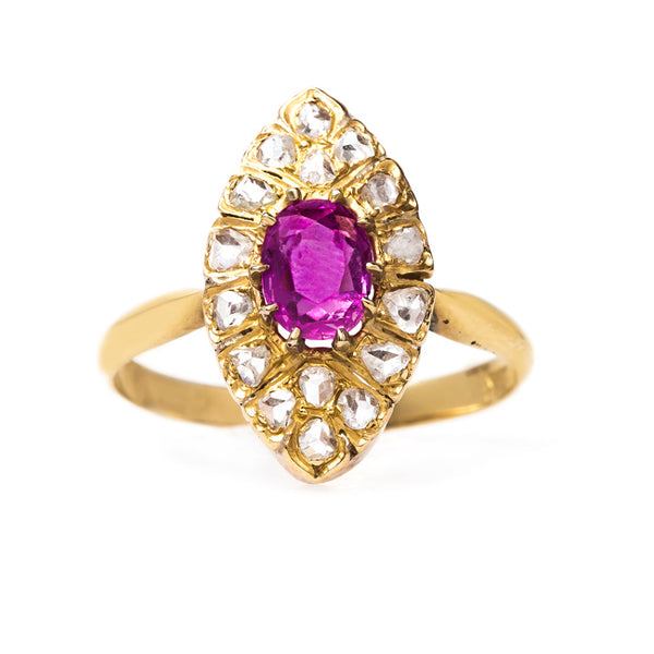 Victorian Antique Ruby Wedding Cocktail Ring | Prairie from Trumpet & Horn