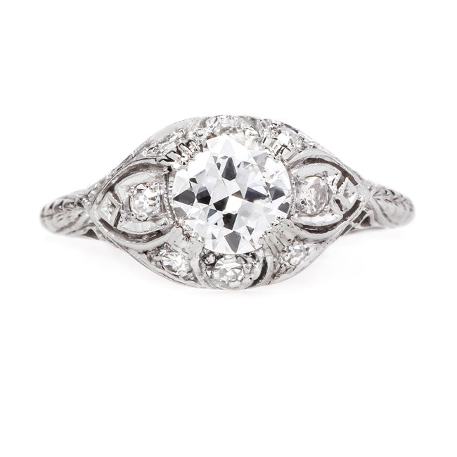 Vintage Edwardian Platinum Engagement Ring | Prescott from Trumpet & Horn
