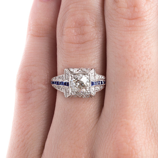 Classic Art Deco Ring with Sapphire Accents | Presidio from Trumpet & Horn