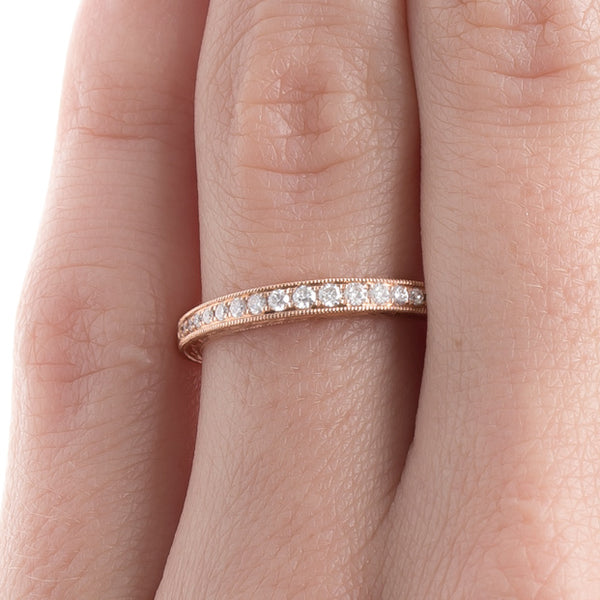 Beautifully Engraved Diamond Wedding Band | Primrose from Trumpet & Horn