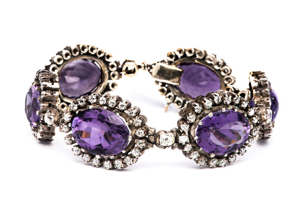 Victorian Amethyst and Diamond Bracelet