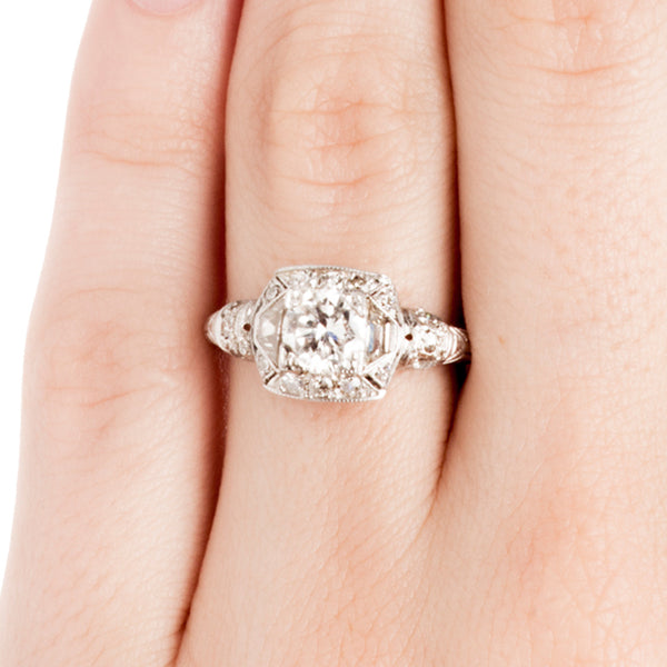Vintage Unique Diamond Engagement Ring