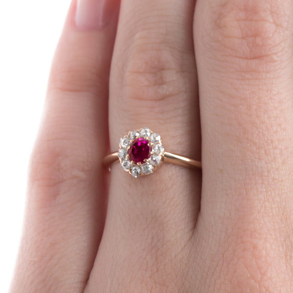 Victorian Engagement Ring with Pinkish Ruby | Red Hook from Trumpet & Horn