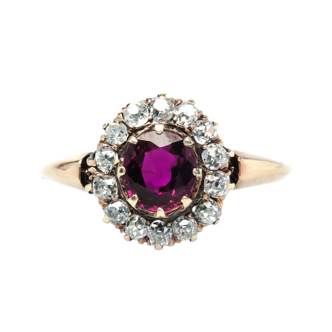 Red Oaks vintage ruby and diamond ring from Trumpet & Horn