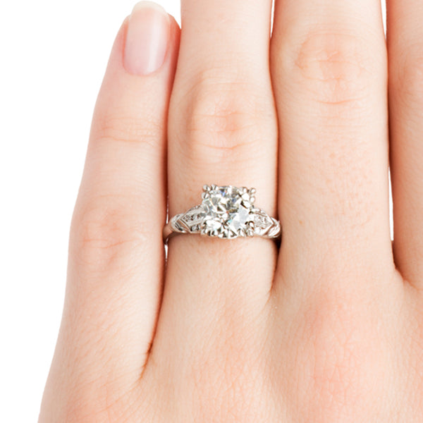 Regents Park Vintage Solitaire Diamond Engagement Ring from Trumpet & Horn