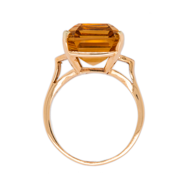Gorgeous Giant 14.50ct Citrine Cocktail Ring | Ridgeman at Trumpet & Horn