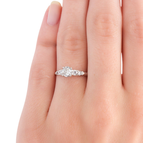 Ringgold vintage diamond solitaire engagement ring from Trumpet & Horn