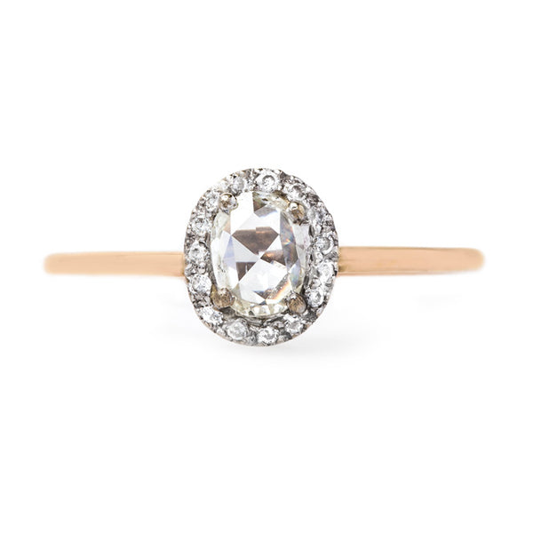 Contemporary Oval Rose Cut Halo Ring | Rocklin from Trumpet & Horn