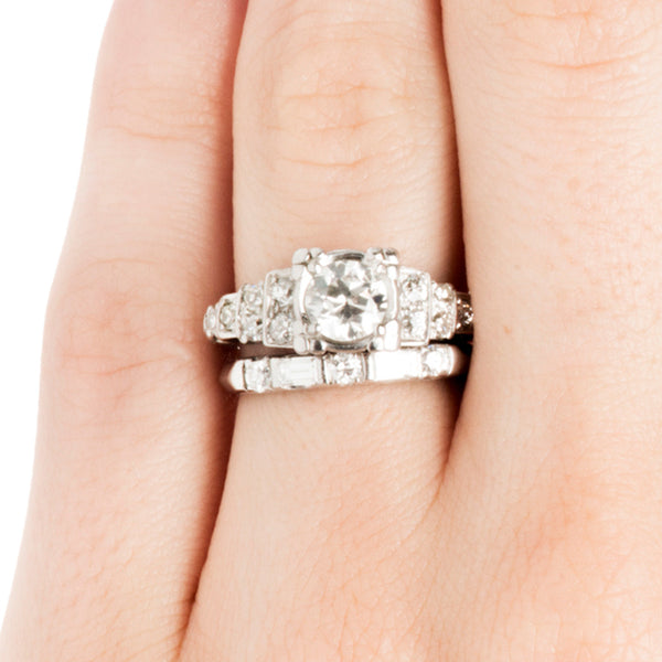 Rocky Hill Vintage Diamond Engagement Ring Set from Trumpet & Horn