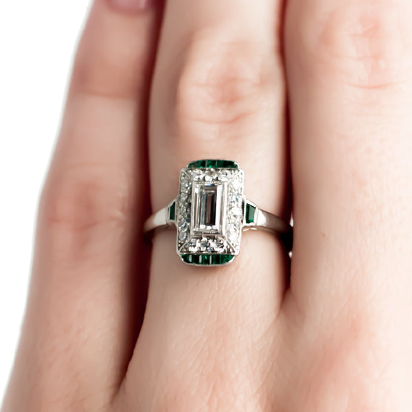 Vintage Emerald and Diamond Art Deco Engagement Ring | Rolling Hills from Trumpet & Horn
