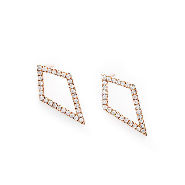 Unique Diamond Kite Earrings