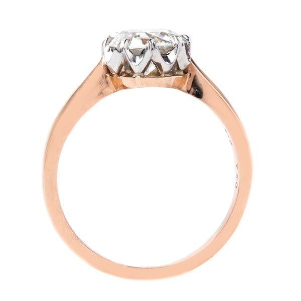 Stunning Solitaire with Tapering Shank | Rose Gold Yatesville from Trumpet & Horn
