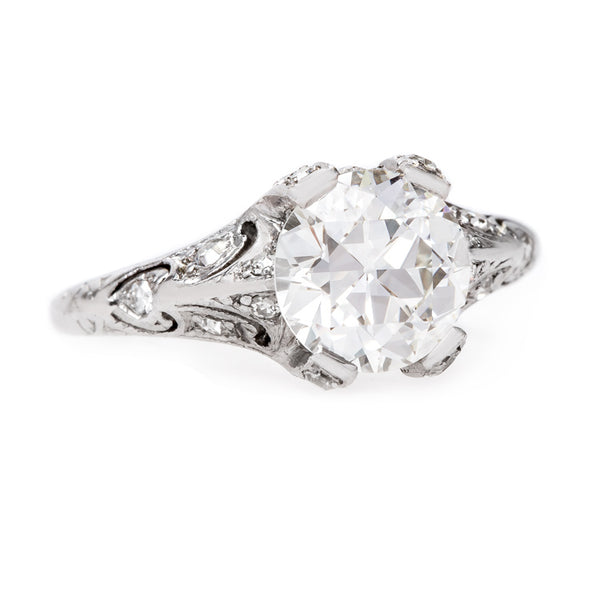 Elegant Edwardian Era Platinum Engagement Ring | Rossmore from Trumpet & Horn