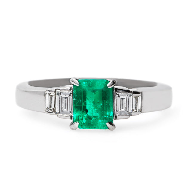 Modern Era Emerald Engagement Ring | Rowling from Trumpet & Horn