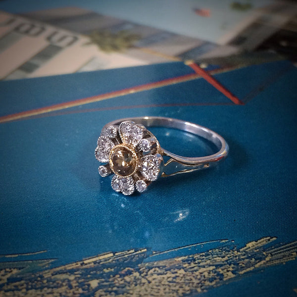 Roxbury vintage Edwardian era engagement ring from Trumpet & Horn