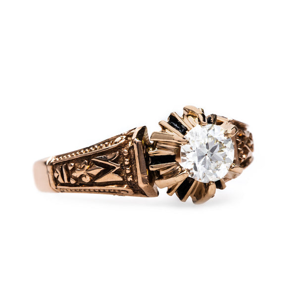 Eclectic Victorian Solitaire Ring | Salem from Trumpet & Horn