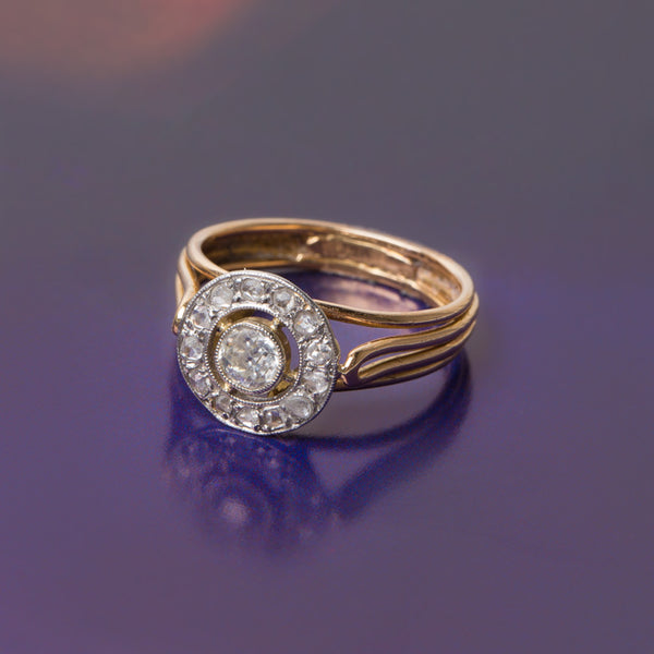Unique Edwardian Old Mine Cut Diamond Engagement Ring | Salinger from Trumpet & Horn