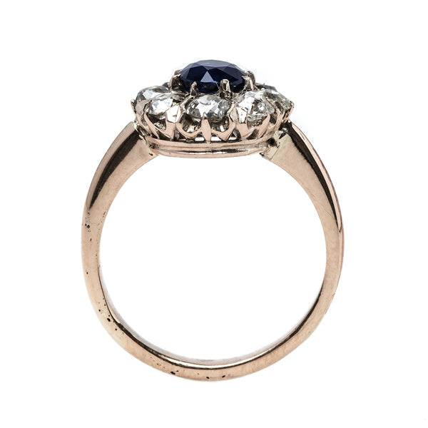 Dignified Victorian Era Sapphire Engagement Ring | Santorini from Trumpet & Horn