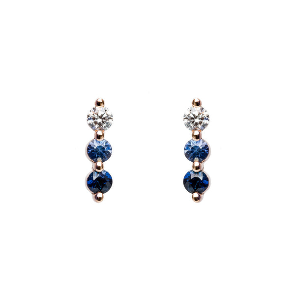 Sapphire Bar Earrings