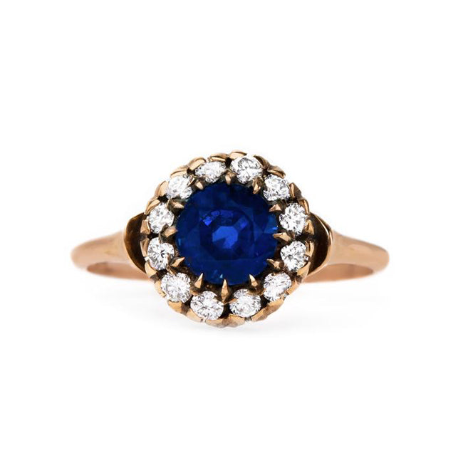 Perfectly Handcrafted Sapphire and Diamond Ring | Smokey Hill from Trumpet & Horn