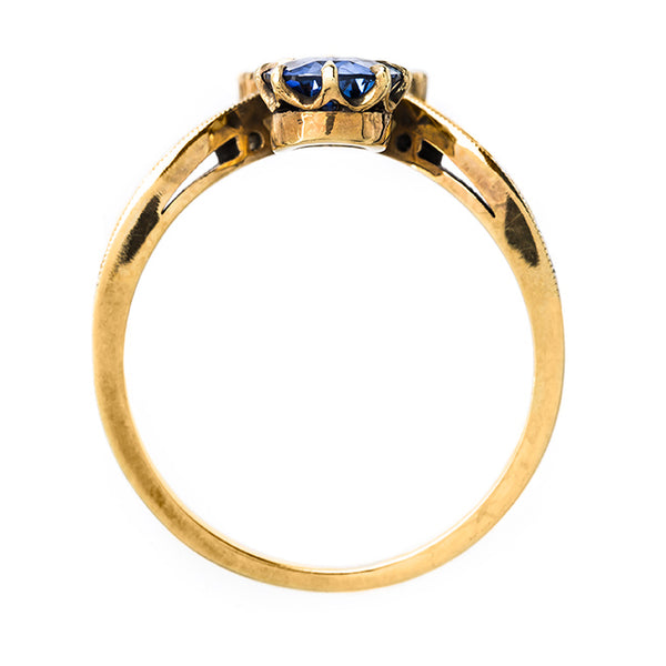 Dazzle Her with a Sapphire Tiara Ring from Trumpet & Horn